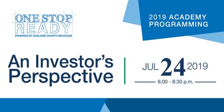 One Stop Ready 2019: An Investor's Perspective tickets