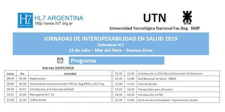 Jornada de Interoperabilidad en Salud - HL7 Argentina en Mar del Plata entradas