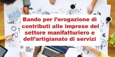 """Incontro di presentazione """"Bando per l'erogazione di contributi alle imprese del settore manifatturiero e dell'artigianato"""" - Vicenza 24/06/19"""