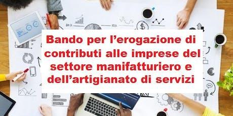 """Incontro di presentazione """"Bando per l'erogazione di contributi alle imprese del settore manifatturiero e dell'artigianato"""" - Vicenza 24/06/19  biglietti"""