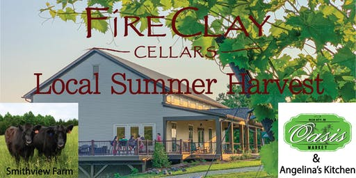 FireClay Cellars Summer Harvest Wine Dinner