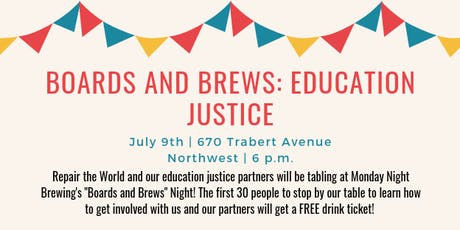 Boards and Brews: Education Justice tickets