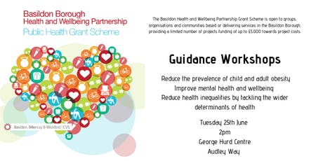 Basildon Health and Wellbeing Partnership Grant  Workshop ***Extra Date*** tickets