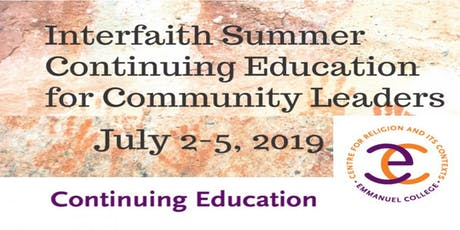 Interfaith Summer Course for Community Leaders  tickets