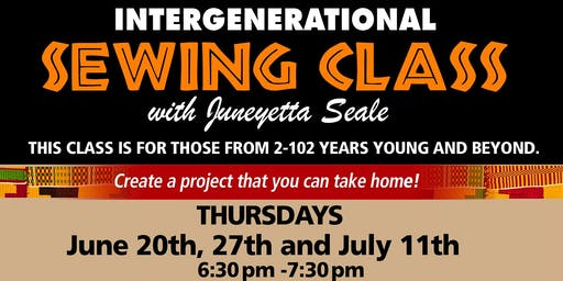 Intergenerational Sewing Class