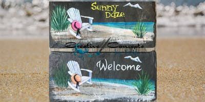 """Sunny Daze"" Slate Paint Night"