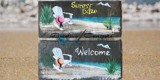 """""""Sunny Daze"""" Slate Paint Night"""