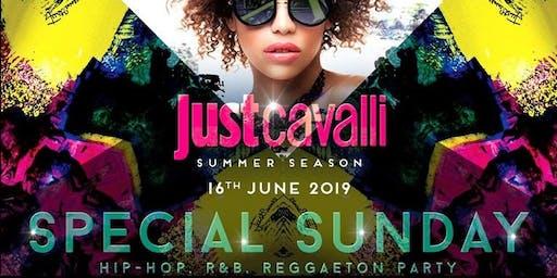 Just Cavalli Milano - Domenica 16 Giugno 2019 - Special hip hop Sunday - Aperitivo E Serata - Omaggio donna - Lista Miami - Liste E Tavoli Al 338-7338905