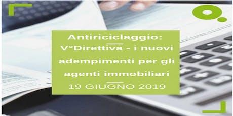 Antiriciclaggio: V°Direttiva - i nuovi adempimenti per gli agenti immobiliari biglietti
