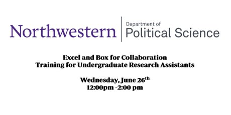 Excel and Box for Collaboration, Training for Undergraduates  tickets