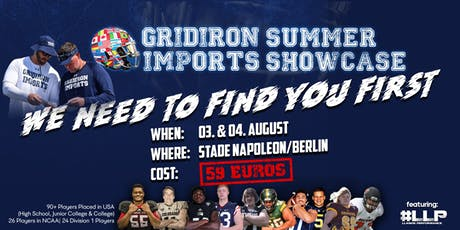 Gridiron Imports Summer Showcase Berlin Tickets