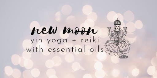 New moon yin yoga + reiki with essential oils