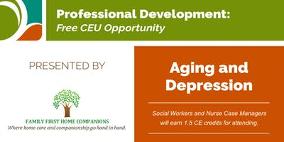 Free CEU! Levittown - 6/27   Aging and Depression