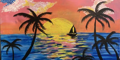 SUMMER THEME Paint Party (with two complimentary drinks)