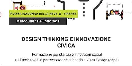 Design thinking e innovazione civica: introduzione e autovalutazione biglietti