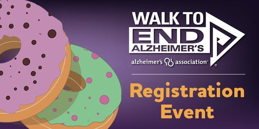 Walk to End Alzheimer's Registration Event at Hurts Donut
