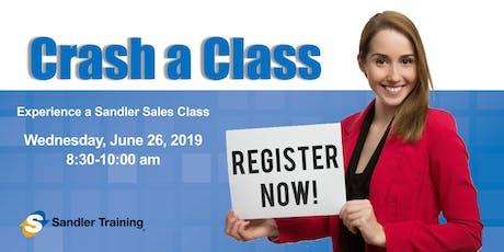 Crash a Class! Sales Training | Delray Beach tickets