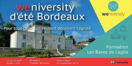 Les bases de l'Agile - Weniversité d'été à Bordeaux (22 août) billets
