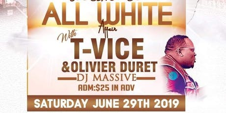All white affair Tvice Oli Duret tickets