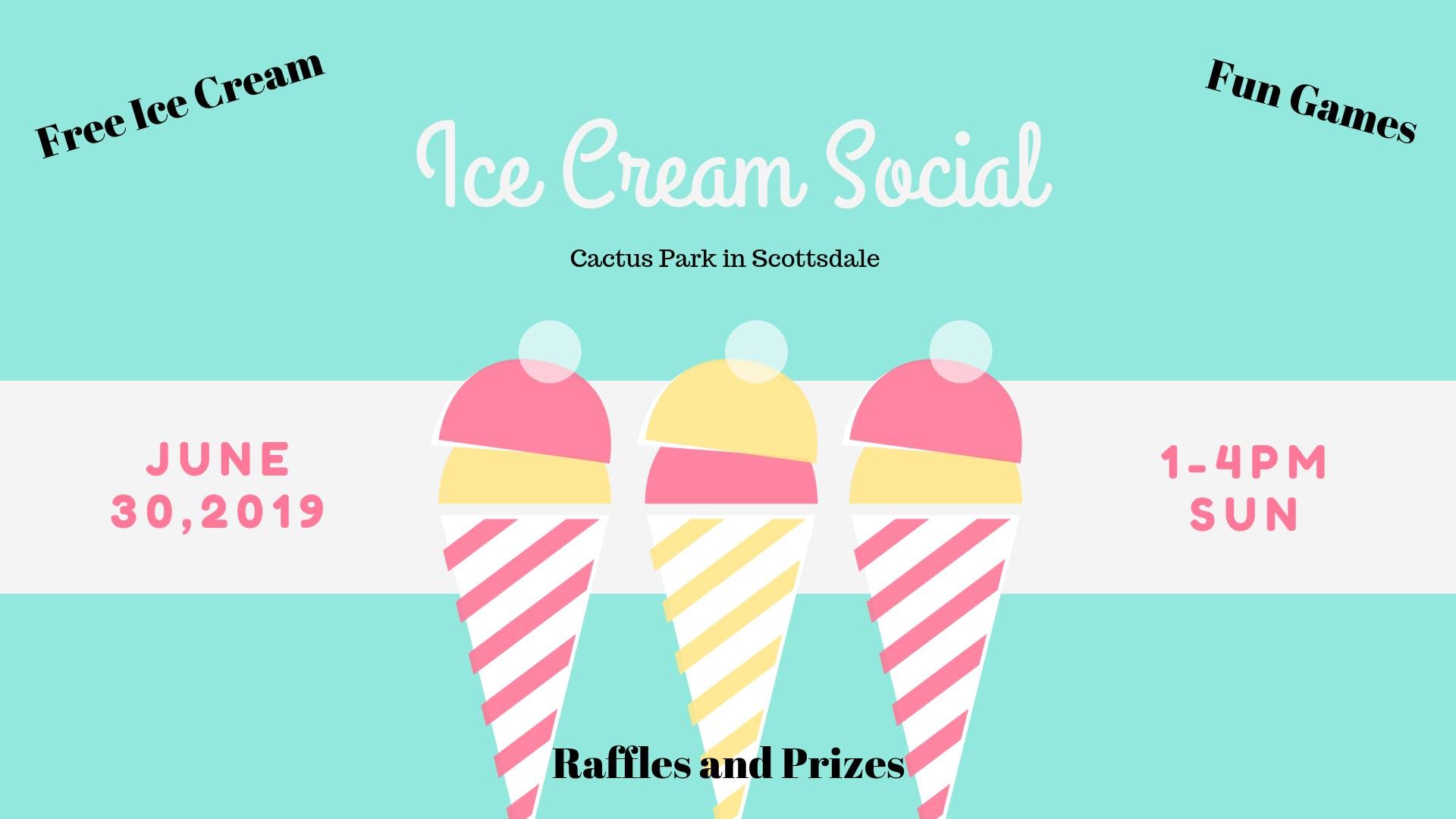 Ice Cream Social Community Event