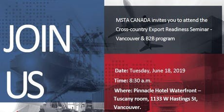 Cross-country Export Readiness Seminar - Vancouver & B2B program billets