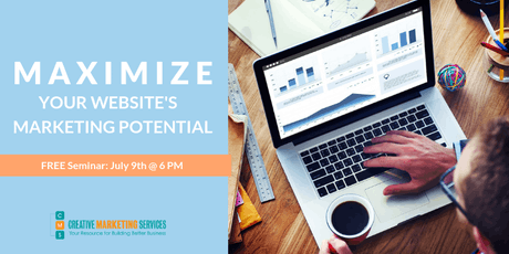 MAXIMIZE YOUR WEBSITE'S MARKETING POTENTIAL  tickets