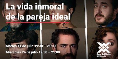 """Ciclo de cine la risa en vacaciones película: """"La vida inmoral de la pareja ideal""""  entradas"""