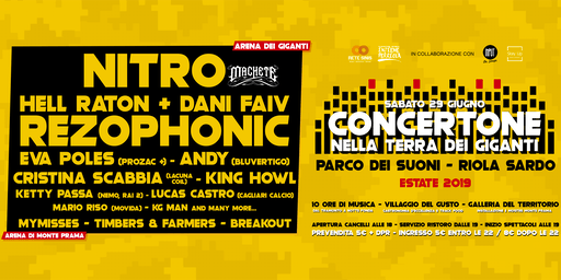 CONCERTONE • Nitro, Rezophonic & many more artists • Parco dei Suoni (OR)