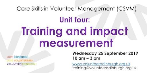 Core Skills in Volunteer Management - Unit 4: Training & Impact Measurement