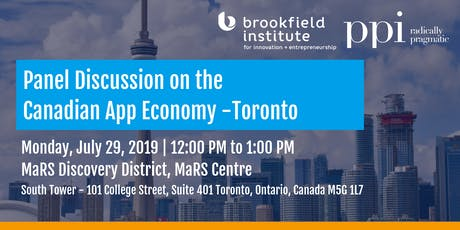 A Conversation on the Canadian App Economy - Toronto tickets