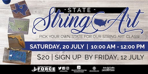 EAFB - July State String Art