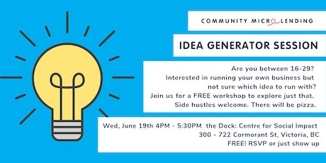 IDEA GENERATOR SESSION - For Future Youth Entrepreneurs tickets
