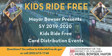Kids Ride Free Card Distribution- August 7 tickets