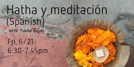 Hatha y meditacion (Yoga in Spanish) tickets