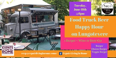 Food Truck Beer Happy Hour on Lungotevere