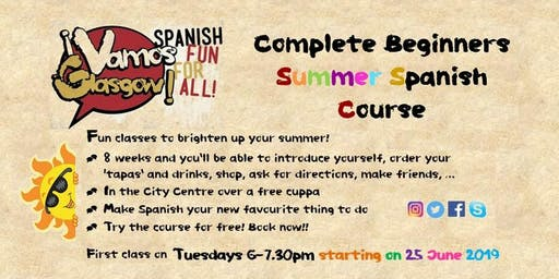 Spanish Summer Course - Evening Course