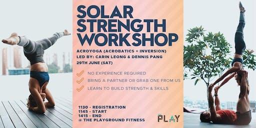 Solar Strength Workshop (Acroyoga: Inversions + Acrobatics)
