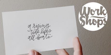 Workshop: Intro to Typography and Hand Lettering tickets