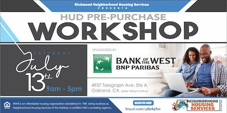 HUD Pre Purchase Workshop tickets