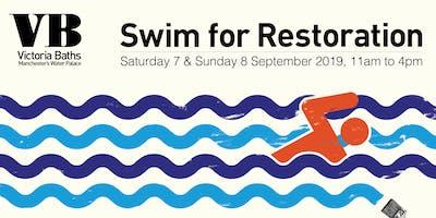 Swim for Restoration 2019 at Victoria Baths