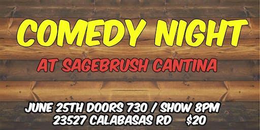 CALABASAS COMEDY NIGHT at Sagebrush Cantina 6/25