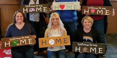 Interchangeable HOME Sign Party tickets