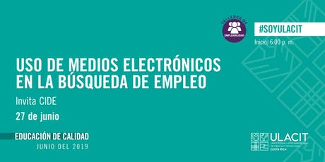 TALLER DE EMPLEABILIDAD: Uso de medios electrónicos en la búsqueda de empleo tickets
