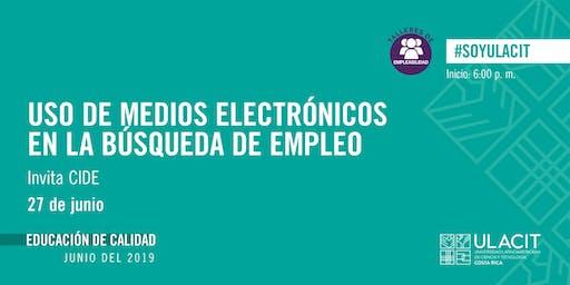 TALLER DE EMPLEABILIDAD: Uso de medios electrónicos en la búsqueda de empleo
