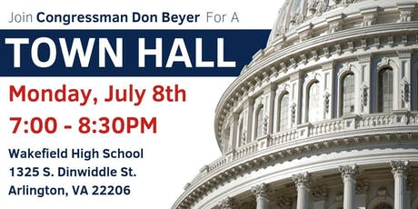 Congressman Don Beyer's Town Hall: July 8, 2019 tickets