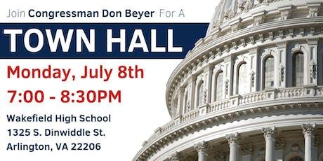 Congressman Don Beyer's Town Hall: July 8, 2019 tickets