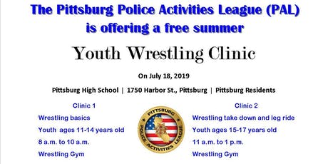 PAL Wrestling Clinic 2 tickets