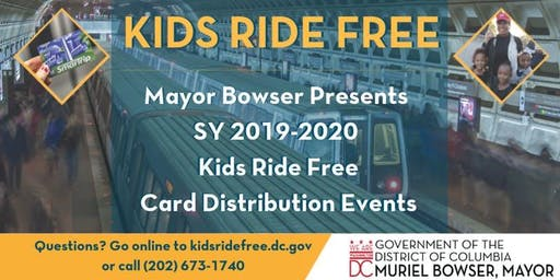 Kids Ride Free Card Distribution- August 12-16 Judiciary Square