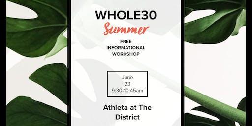Free Whole30 Informational Workshop