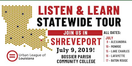 Listen and Learn Shreveport tickets
